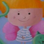 Bambina con gatto, quadri per l'infanzia