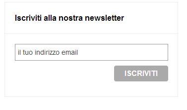 Box di iscrizione alla newsletter