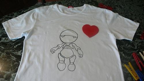 Maglietta fai da te con cuore
