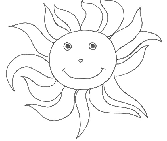 Disegni per bambini sui fenomeno atmosferici for Sole disegno da colorare