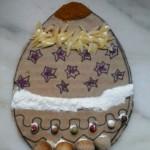 Uovo di Pasqua collage alimentare