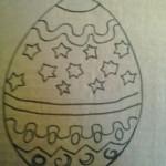 Uovo di Pasqua di cartone