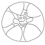 Disegno gratuito: l'ape nel fiore