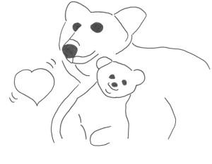 Disegno orsa e orsetto