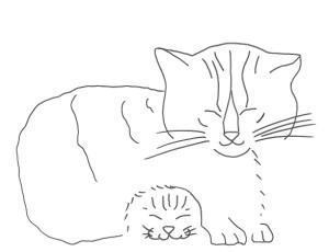 La gatta e il suo gattino