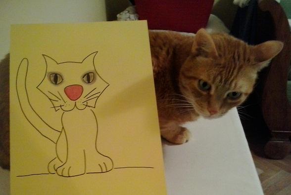 Gatto truccato