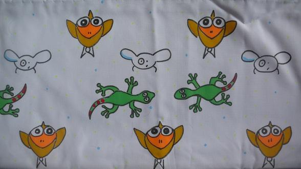 Decoro lenzuolo colorato