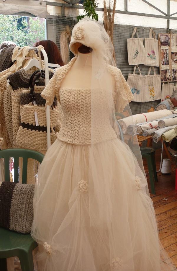 ... pregio all'Ecomuseo Leumann Vestito da sposa tessuto e fatto a mano