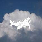 Aeroplanino da colorare