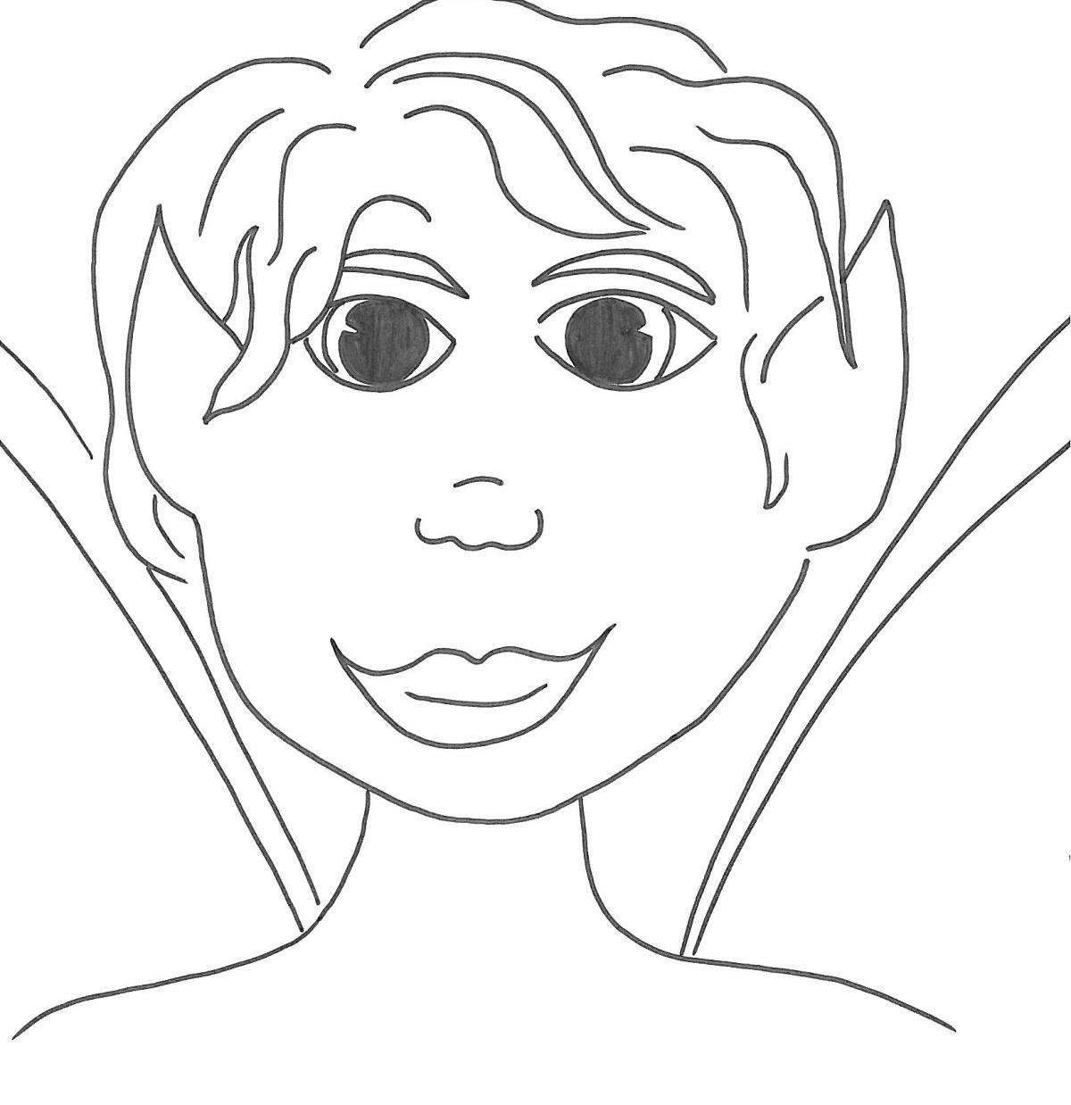 Bambino elfo disegno for Disegni di cabina di log gratuiti