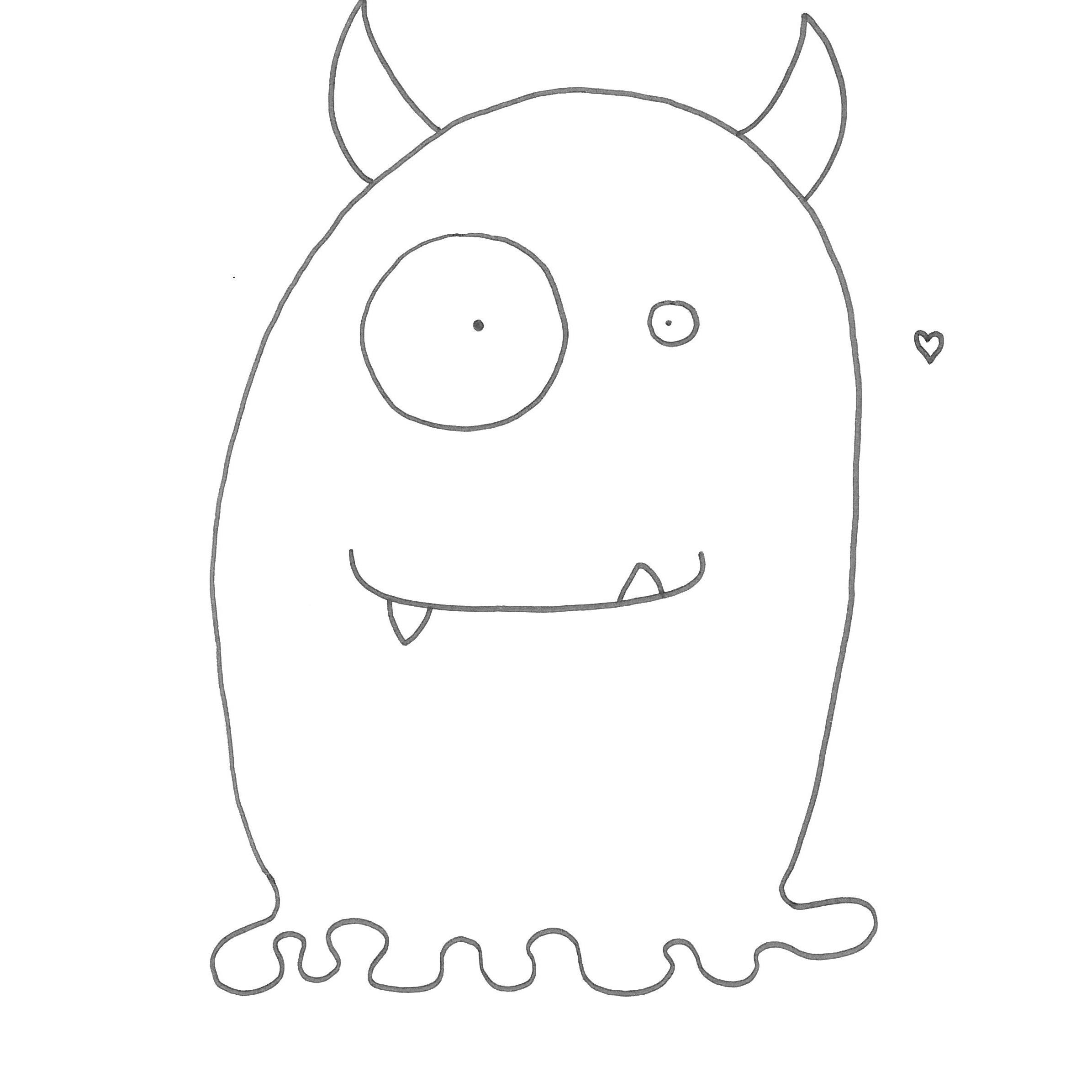 Mostro con tentacoli disegno for Disegni di cabina di log gratuiti
