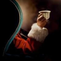 Babbo Natale beve un té