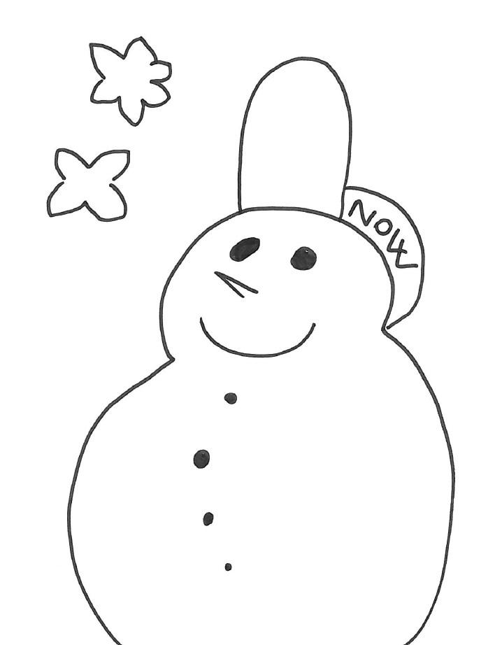 Pupazzo di neve incantato disegno