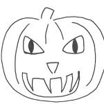 Zucca di Halloween cattiva