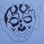 Modello maschera Darth Maul