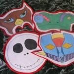 Maschere da Carnevale di panno decorate a mano