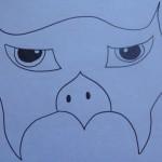Modello maschera falco