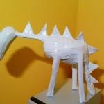 Scultura cavallo dinosauro