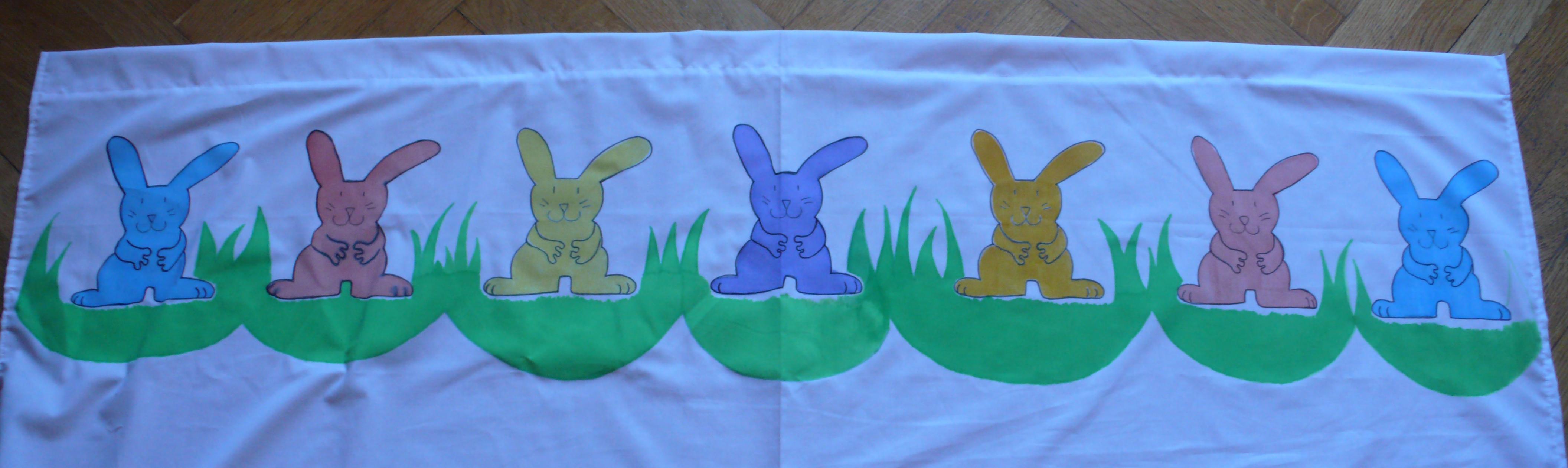Lenzuolo primavera conigli