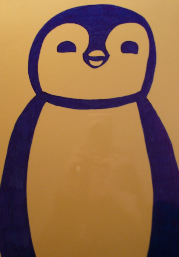Pinguino portafoto fai da te