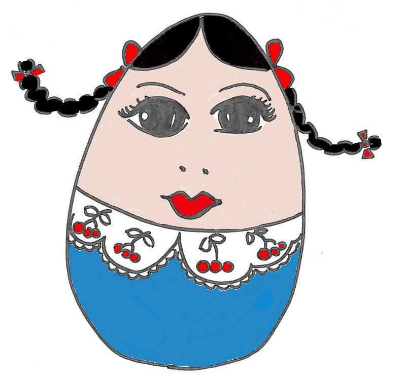 Uovo Matrioska colorato