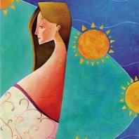 Maternità di Rosaria Battiloro illustratrice