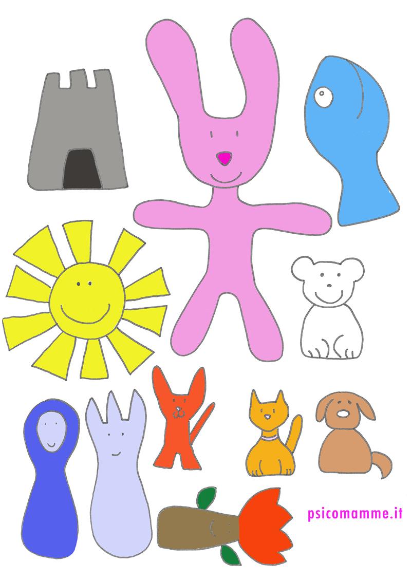 Pattern bimbi colorati