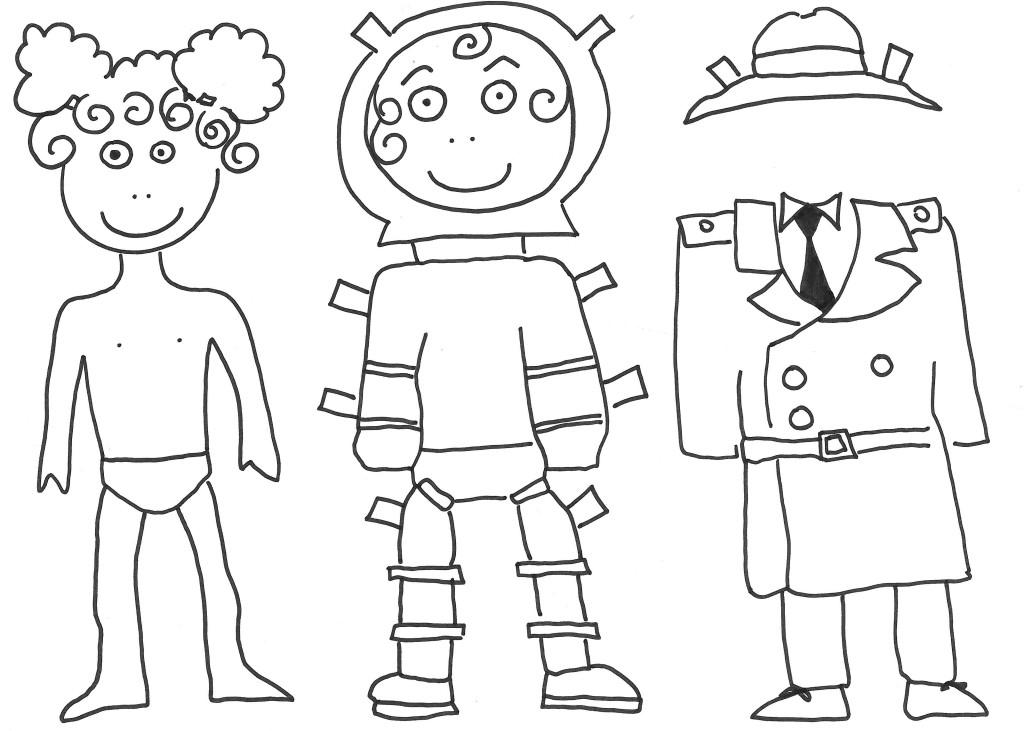 Bamboline da stampare e colorare for Disegni di cabina di log gratuiti