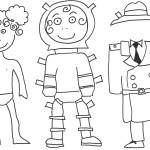 Bamboline da stampare e colorare