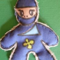Fiammiferino fai da te: bambolina ninja
