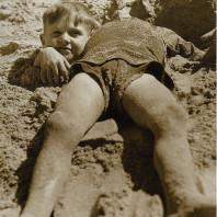 Graham e Billy Greene sulla spiaggia