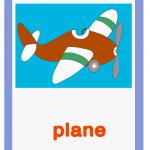 Carta gioco aereo - plane