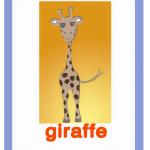 Carta gioco giraffa - giraffe