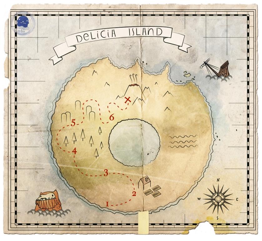 Isola Delicia mappa