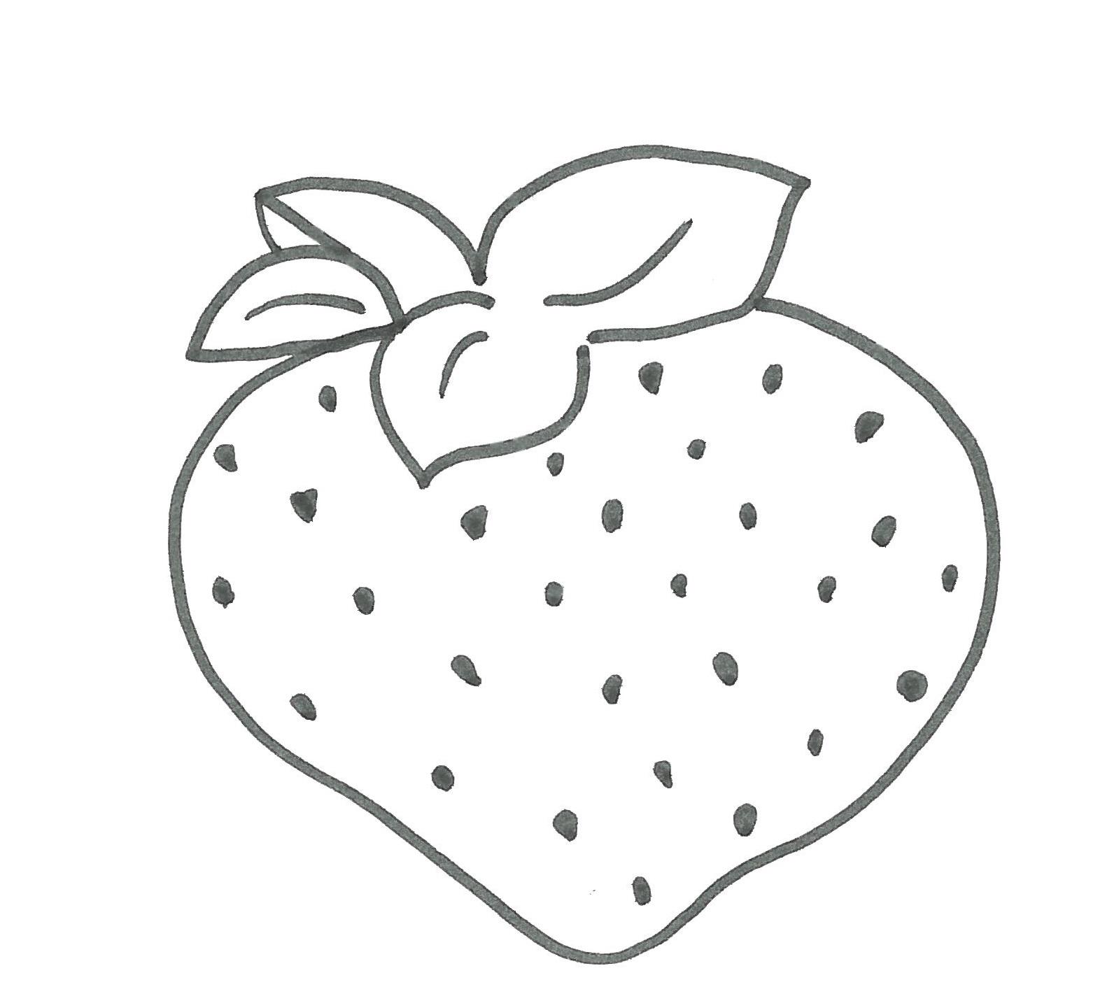 Disegni di frutta per i lavoretti con i bambini stampa e for Disegni da colorare ciliegie