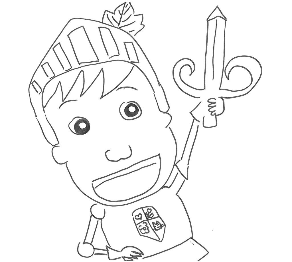 Disegni dei personaggi delle fiabe - Mike le pagine da colorare cavaliere ...