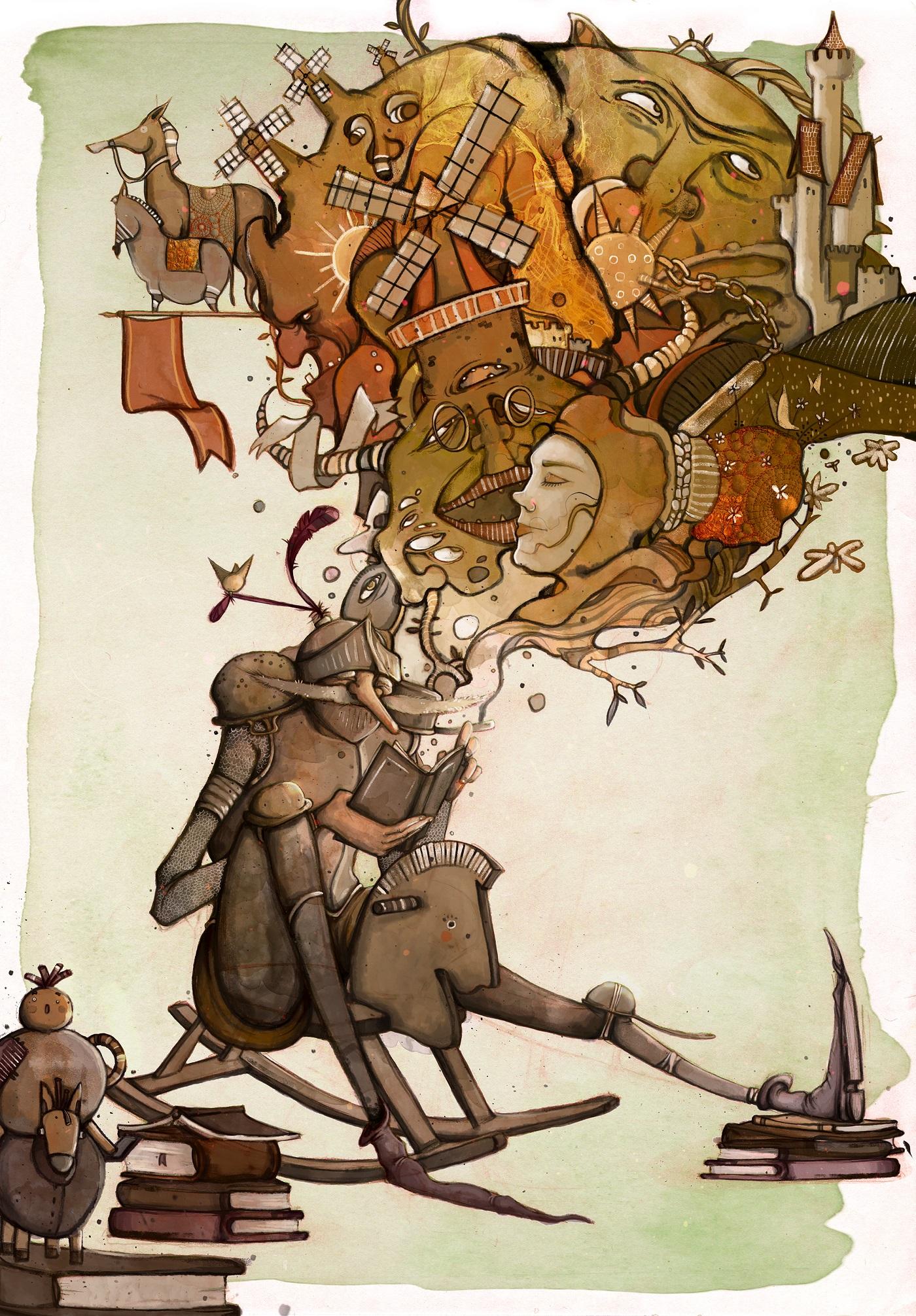 Carolina Grosa illustrazione Don Chisciotte