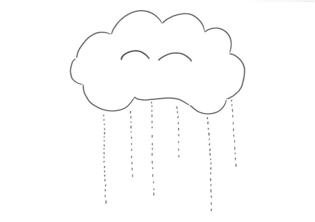 Pioggia, disegno