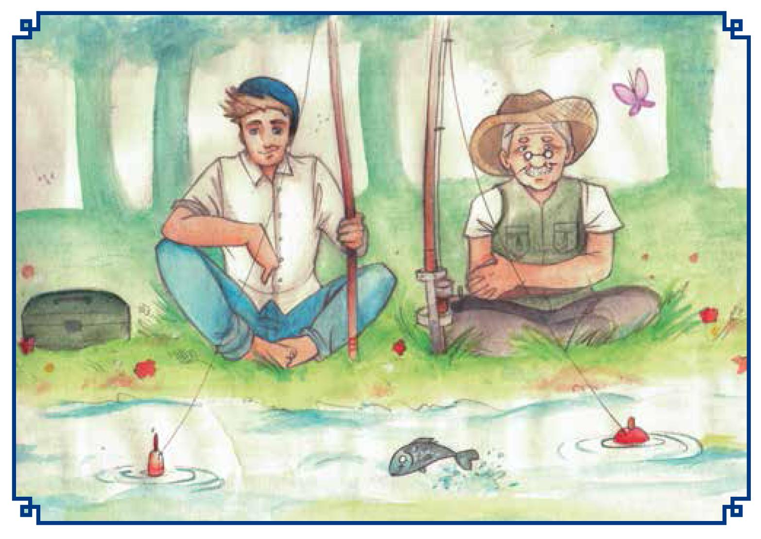 Illustrazione di Sabrina Borron per Un sottomarino in paese