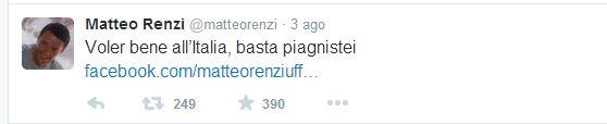 Il twit di Renzi