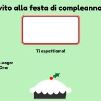 Invito festa di compleanno verde