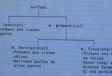 Schema di Gaetano Berruto sui morfemi
