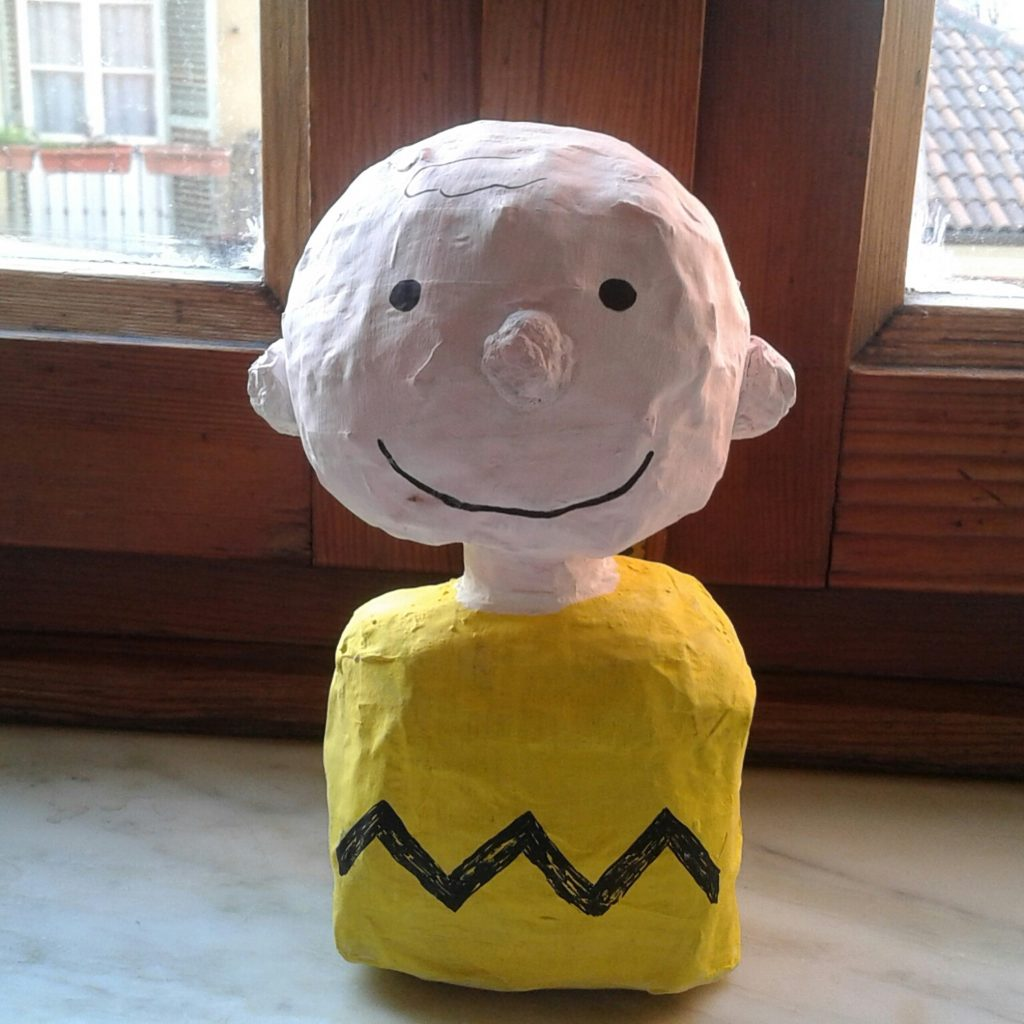 Charlie Brown di cartapesta ultimato