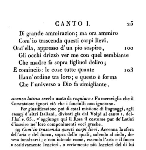 Io narrante nella Divina Commedia di Dante