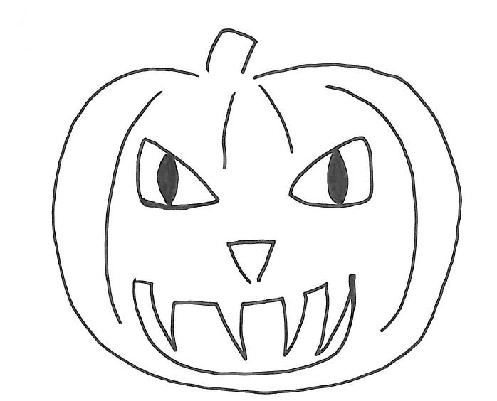 Come disegnare zucche di halloween su stoffa - Come disegnare immagini di halloween ...
