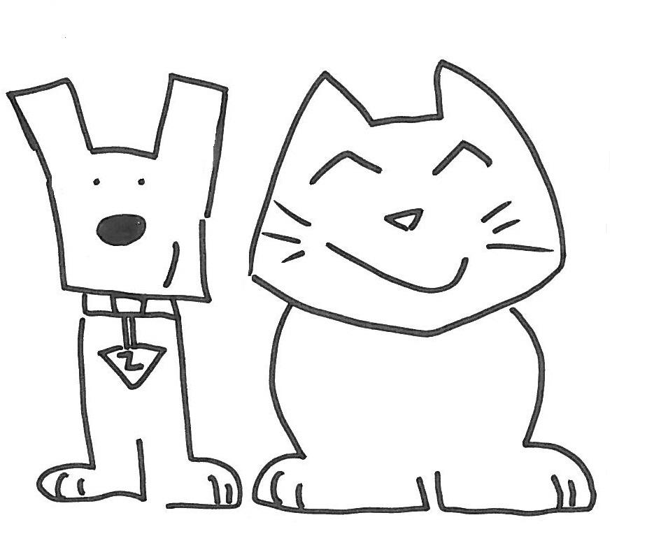 Disegni di animali for Cani e gatti da stampare e colorare