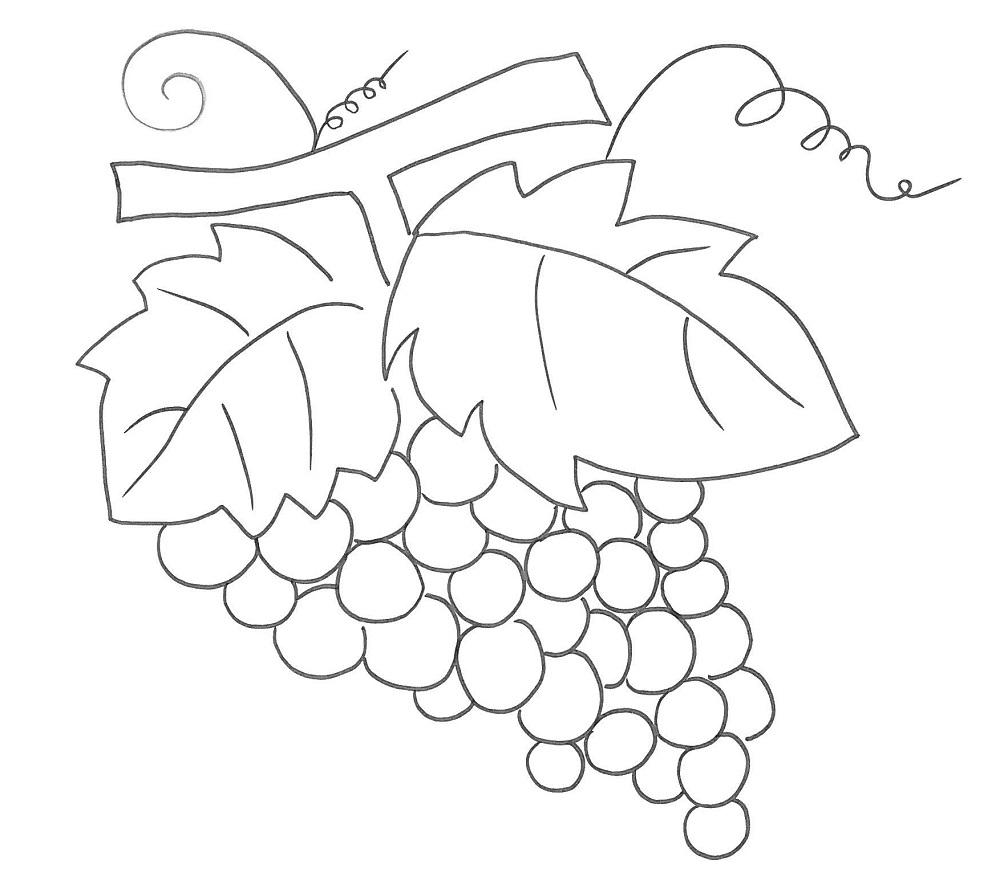 Disegni di frutta per i lavoretti con i bambini stampa e - Disegni di casa da colorare per bambini ...